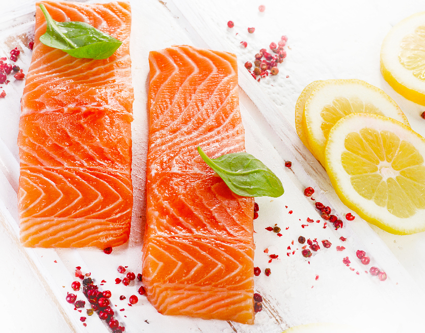 Salmon Portions Skinless and Boneless