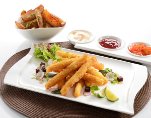 Panko Coated Squid Strips
