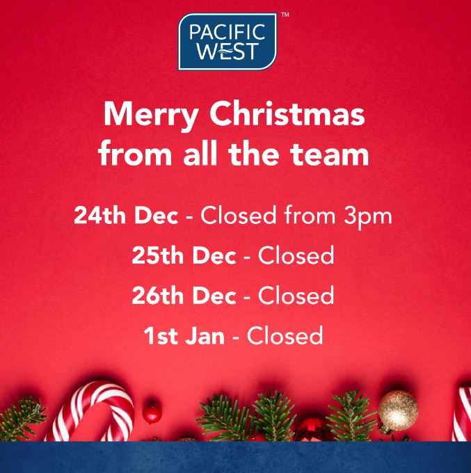 Festive office opening times at Pacific West